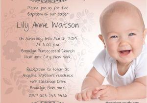 Baptism Invitation Card Wordings Baptism Invitation Wording Samples Wordings and Messages