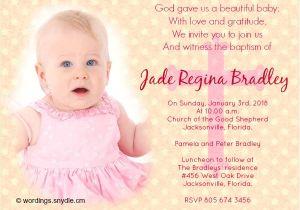 Baptism Invitation Card Wordings Baptism Invitations Wording – Gangcraft