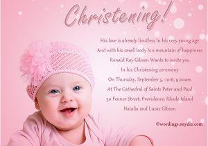 Baptism Invitation Card Wordings Christening Invitation Wording Wordings and Messages