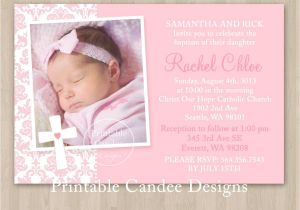 Baptism Invitation Examples Baby Girl Baptism Invitations