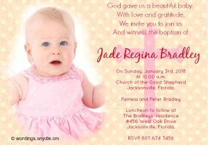 Baptism Invitation Examples Baptism Invitation Wording Samples Wordings and Messages