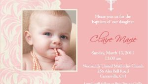 Baptism Invitation Examples Baptism Invitations for Girl Christening Invitation
