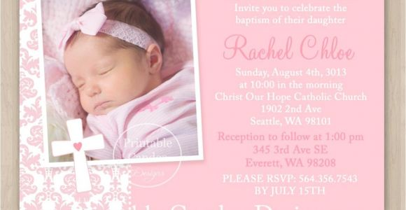 Baptism Invitation Ideas for Baby Girl Baby Girl Baptism Invitations
