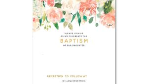 Baptism Invitation Templates Free Free Free Template Free Floral Baptism Invitation Template
