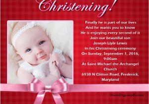 Baptism Invitation Wordings Sample Christening Invitation Wording Wordings and Messages