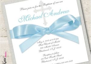 Baptism Invitations Etsy Baby Boy Baptism Invitation Christening by Libbykatesmiles
