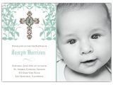 Baptism Invitations for A Boy Cross Trellis Boy Baptism Invitations
