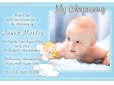 Baptism Invitations for A Boy Free Christening Invitation Template