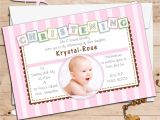 Baptism Invitations for Boy and Girl Baptism Invitations for Girls Baptism Invitation Card