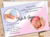 Baptism Invitations for Boy and Girl Twin Baptism Invitations Twin Boy and Girl Baptism