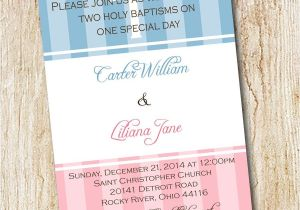 Baptism Invitations for Twins Baptism Invitation Best Baptism Invitations Baptism