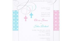 Baptism Invitations for Twins Boy and Girl Boy and Girl Twins Baptism Invitation