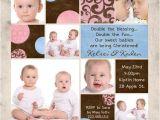 Baptism Invitations for Twins Twin Baptism Invitations – Gangcraft