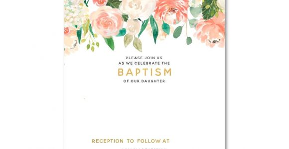 Baptism Invitations Free Templates Free Free Template Free Floral Baptism Invitation Template
