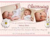 Baptism Invitations Postcard Style Christening Invitation for Baby Girl Christening