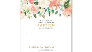 Baptism Invitations Template Free Free Template Free Floral Baptism Invitation Template