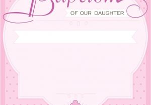 Baptism Invitations Templates Free Dotted Pink Free Printable Baptism & Christening
