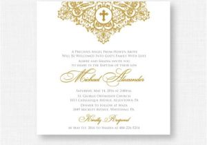 Baptism Invites Canada Printable Baptism Invitation Gold Baptism Invitation Baby