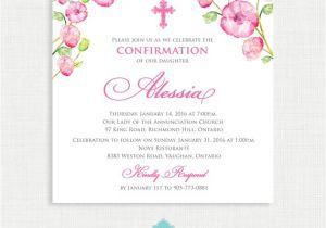 Baptism Invites Canada Printable Baptism Invitation Watercolor Girls Baptism