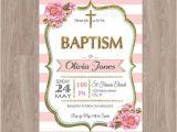 Baptism Invites Etsy Baptism Invitation Girl Baptism Invitation by Damabdigital