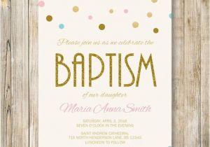 Baptism Invites Etsy Baptism Invitation Pink Blue Gold Glitter by Lavenderarte