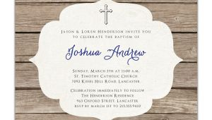 Baptism Invites Etsy Baptism Invitation Rustic Christening Invitation Girl or Boy