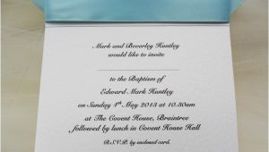 Baptism Text Invitation top Ribbon Personalised Christening and Baptism