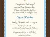 Baptism Wording Invitations Baby Boy Baptism Invitation Boy or Girl Baby Boy