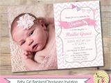 Baptismal Invitation Card Girl Baptism Invitation Christening Invite Personalized