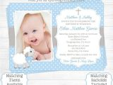 Baptismal Invitation for Baby Girl Baptism Invitations for Boys Christening Invitations for