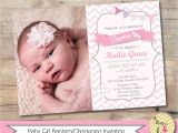 Baptismal Invitation for Baby Girl Girl Baptism Invitation Christening Invite Personalized