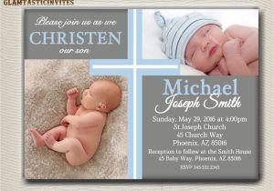 Baptismal Invitation for Boys Boy Baptism Invitations Background