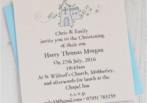 Baptismal Invitation for Boys Personalised Christening Invitation Pack by Eggbert