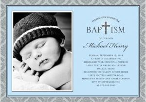 Baptismal Invitation for Boys Radiant Cross Boy Baptism Invitation