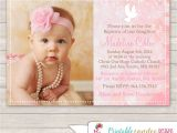 Baptismal Invitation Layout for Baby Girl Baptism Invitations Girl Baptism Invitations Card