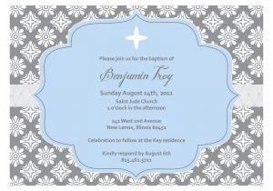 Baptismal Invitation Layout Templates Christening Invitation Blank Template