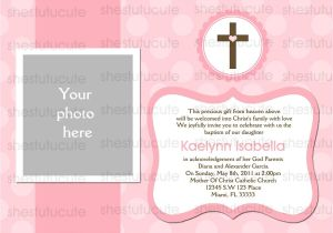 Baptismal Invitation Layout Templates Girls Baptism Invitations Digital File by Shestutucutebtq