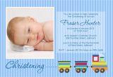 Baptismal Invitation Layout Train Christening – Li Designs