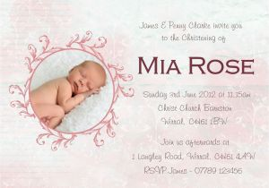 Baptismal Invitation Quotes Baby Girl Christening Invitations