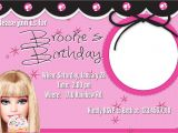 Barbie Birthday Invitation Card Free Printable 40th Birthday Ideas Birthday Invitation Barbie Template