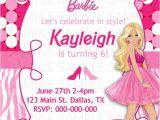 Barbie Birthday Invitation Card Free Printable Barbie Birthday Invitation by Kaitlinskardsnmore On Etsy