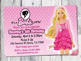 Barbie Birthday Invitation Card Free Printable Barbie Birthday Invitation Printable Doll by Partyprintouts