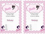 Barbie Birthday Invitation Card Free Printable Barbie Free Printable Birthday Party Invitations