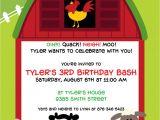 Barnyard Party Invitation Wording Barnyard Bash Birthday Party Invitation