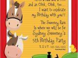 Barnyard Party Invitation Wording Free Barnyard Party Invitation Templates