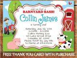 Barnyard Party Invitation Wording Printable Farm theme Birthday Invitation for Kids Barnyard