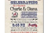 Baseball Bridal Shower Invitations 14 Best Wedding Invitations Images On Pinterest