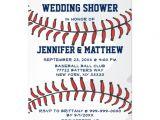 "Baseball Bridal Shower Invitations Baseball Ball Player Fan Wedding Shower Blue 2 5"" X 7"