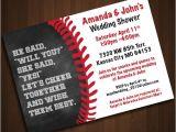 Baseball Bridal Shower Invitations Baseball themed Wedding Shower Invitation Printable