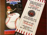 Baseball Bridal Shower Invitations Baseball Ticket Invitation Bridal Shower Bachelorette Wedding